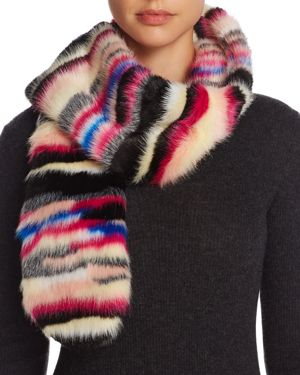 Cara New York Multicolor Faux Fur Scarf - 100% Exclusive