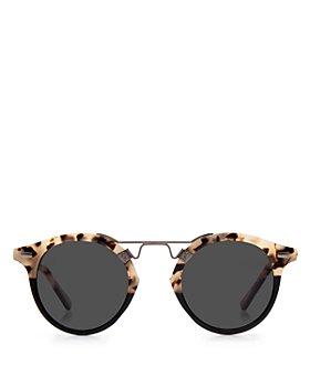 Krewe - Unisex St. Louis 24K Polarized Round Sunglasses, 46mm