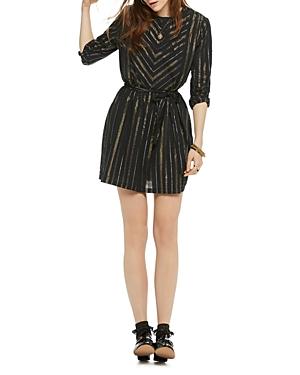 Scotch & Soda Metallic Striped Dress