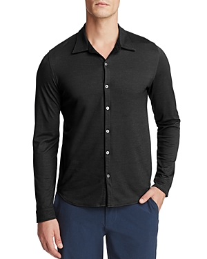 Zachary Prell Glacier Knit Long Sleeve Button-Down Shirt