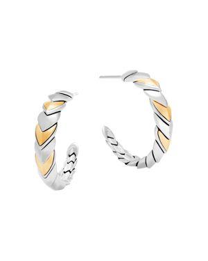 John Hardy 18K Gold and Sterling Silver Legends Naga Hoop Earrings