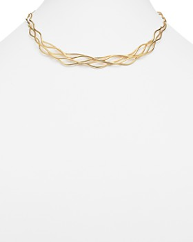 "Bloomingdale's - 14K Yellow Gold Wave Wire Collar Necklace, 17"" - 100% Exclusive"