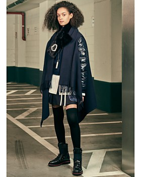 Moncler - Women's Mixed Media Down Cape, Button Front Shirt & More
