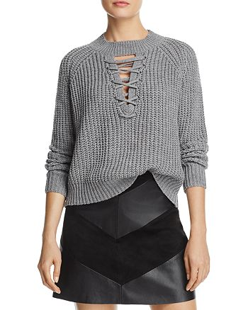 PPLA - Tanner Lace-Up Sweater