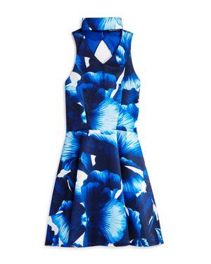 Miss Behave Girls' Floral Choker Scuba Dress - Big Kid 2638572