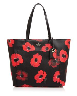 kate spade new york Hyde Lane Riley Poppy Print Leather Tote