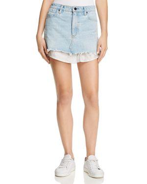 T by Alexander Wang Shirttail Denim Skirt
