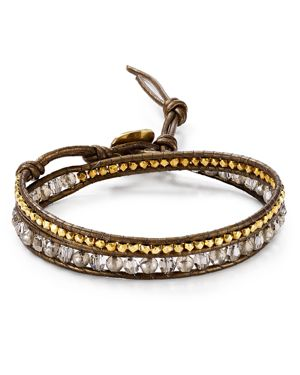 Chan Luu Beaded Crystal Wrap Bracelet