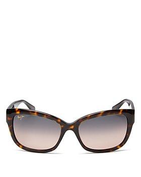 Maui Jim - Women's Plumeria Polarized Cat Eye Sunglasses, 55mm