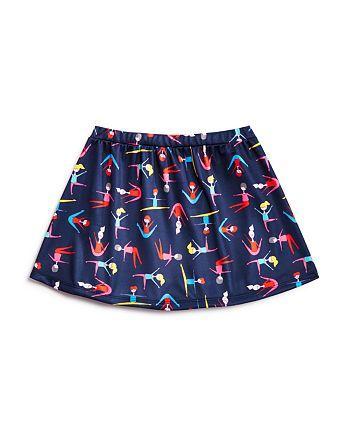 Margherita Kids - Girls' Stretching Print Skirt - Little Kid