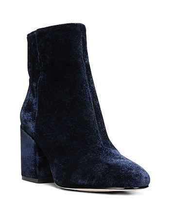 Sam Edelman - Women's Taye Velvet Block Heel Booties
