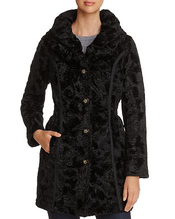 Laundry by Shelli Segal - Reversible Faux Shearling & Puffer Coat