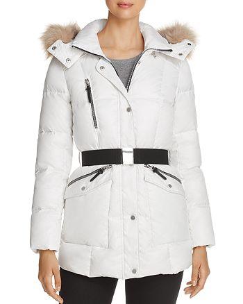 Marc New York - Lucy Faux Fur Trim Puffer Coat