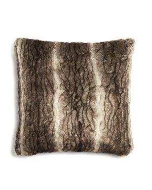 Hudson Park Textured Faux Fur Decorative Pillow, 20 x 20 - 100% Exclusive