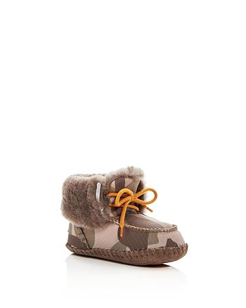 36528eee36a UGG® Boys' Sparrow Camo Print Shearling Lace Up Booties - Baby ...