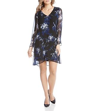 Karen Kane Printed Flare-Sleeve Dress