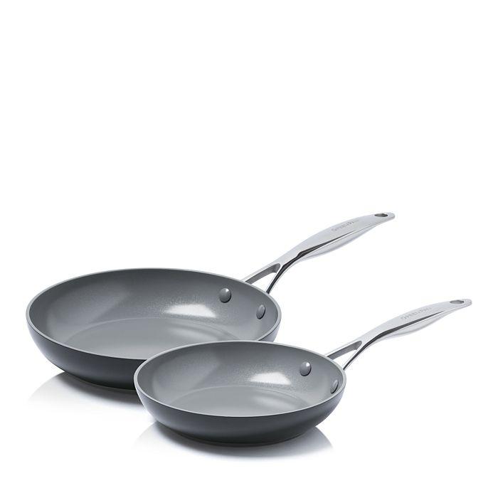 "GreenPan - Valencia Pro 8"" and 10"" Ceramic Non-Stick Open Frypan Set"
