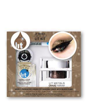 LIT COSMETICS Lit Metals Metallic Pigment Lit Kit in Crave