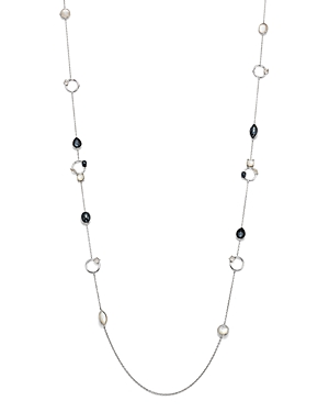 Ippolita Sterling Silver Rock Candy Open Station Mother-of-Pearl Doublet, Hematite Doublet and Clear