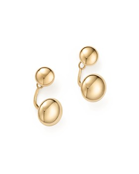 Bloomingdale S 14k Yellow Gold Ball Ear Jackets 100 Exclusive