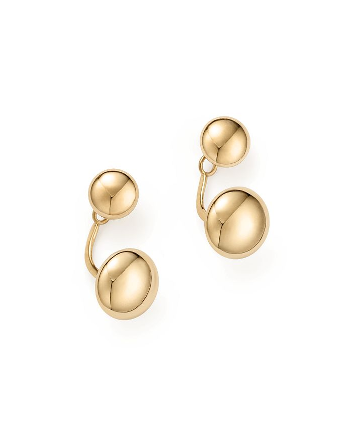14k Yellow Gold Ball Ear Jackets 100 Exclusive