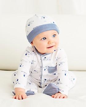Little Me - Boys' Puppy Print Footie & Hat Set - Baby