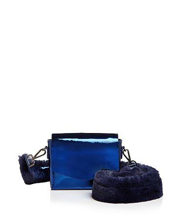 Street Level - Faux-Fur Strap Mirror Shoulder Bag - 100% Exclusive