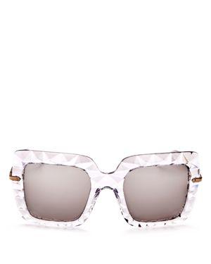 Dolce & Gabbana Mirrored Oversized Square Sunglasses, 50mm