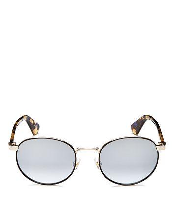 kate spade new york - Women's Adelais Mirrored Round Sunglasses, 50mm