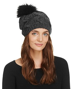 Echo Fur Pom-Pom Beanie - 100% Exclusive - Bloomingdale's_0