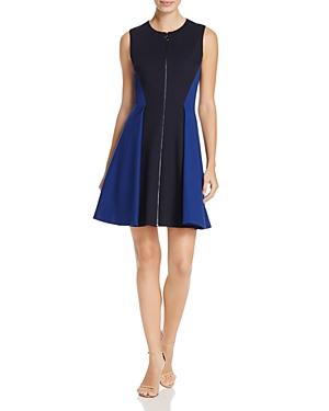Elie Tahari Embline Color Block Zip Dress