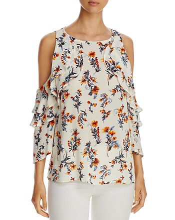 Alison Andrews - Cold-Shoulder Ruffle Top - 100% Exclusive