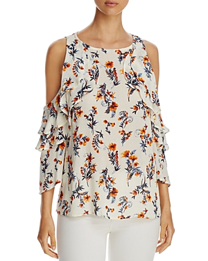 Alison Andrews Cold-Shoulder Ruffle Top - 100% Exclusive