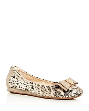 New Cole Haan Tali Flex Ballet Flats, Flats, Natural Snake-Embossed Leather
