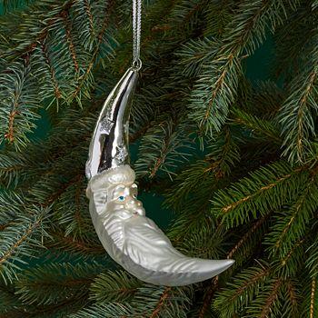 Bloomingdale's - Crescent Moon Santa Ornament - 100% Exclusive