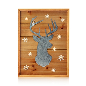 Bloomingdale's Wood & Metal Reindeer Wall Art - 100% Exclusive