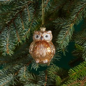 Bloomingdale's Glass Glitter Owl Ornament - 100% Exclusive