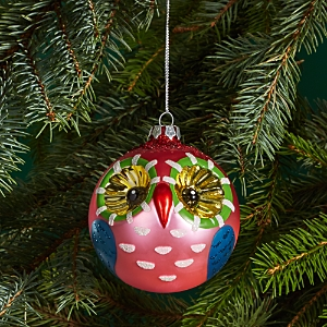Bloomingdale's Glass Ball Owl Ornament - 100% Exclusive