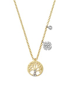 """Meira T - 14K White and Yellow Gold Diamond Tree of Life Pendant Necklace, 16"""""""