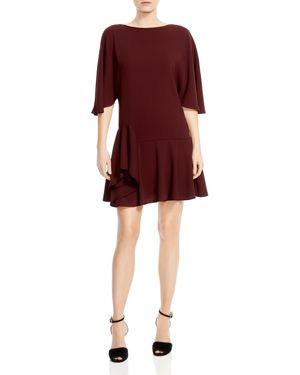Halston Heritage Ruffled Drop-Waist Dress