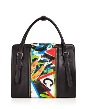 Love x Fashion x Art Risako Large Leather Satchel 2639849