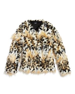 Bardot Junior Girls' Leopard Print Faux-Fur Coat - Big Kid