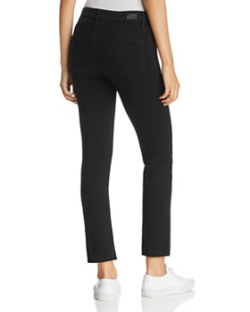 PAIGE - Jacqueline Straight Crop Jeans in Black Shadow