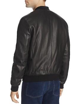 Cole Haan - Leather Varsity Bomber Jacket