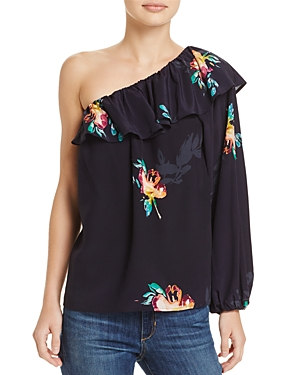 French Connection Delphine One-Shoulder Ruffled Top