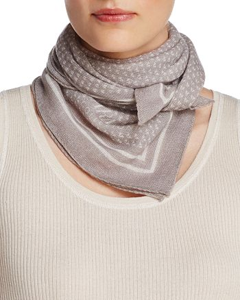 Armani Collezioni - Wool Triangle Print Scarf