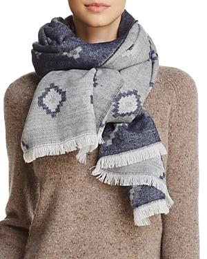Aqua Geometric Blanket Scarf - 100% Exclusive