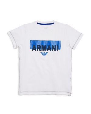 Armani Junior Boys' Logo Tee - Little Kid, Big Kid