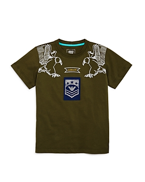 Armani Junior Boys' Eagle Logo Tee - Big Kid