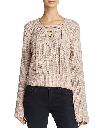 John and Jenn - Megan Lace-Up Sweater - 100% Exclusive